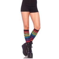 Rainbow Striped Knee High Socks - One Size