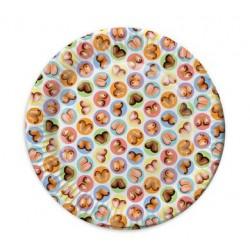 Mini Boob Plates - 8 Pack
