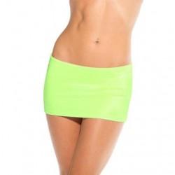 Scrunch Back Mini Skirt - Neon Green - One Size