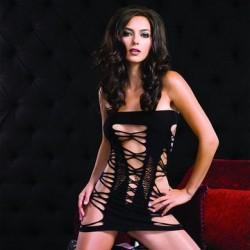 Seamless Strappy Tube Dress - Black - One Size