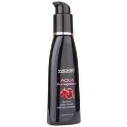 Aqua Pomegranate Flavored Water-based Intimate Lubricant 2 Oz.
