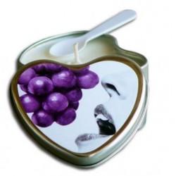 Grape Edible Heart Candle - 4 oz.