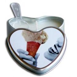 Vanilla Edible Massage Oil Heart Candle - 4 oz.