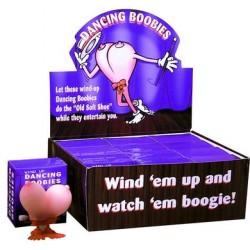 Wind-Up Dancing Boobies - Display of 12