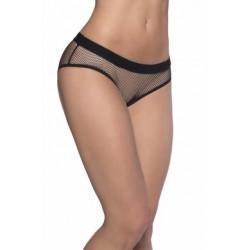 Backless Fishnet Panty - Black - 3x/4x