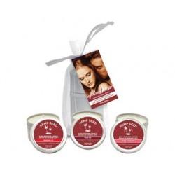 Valentine Massage Candle Trio