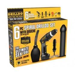 6 Pc Spiral Drilldo Set W/ Douche