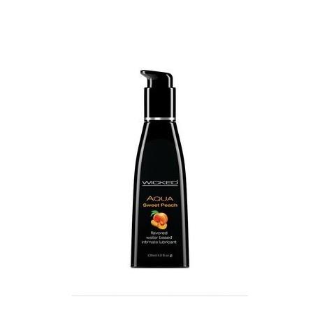 Aqua Sweet Peach Flavored Water Based Lubricant - 4 Oz. / 120 Ml