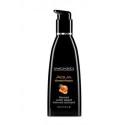 Aqua Sweet Peach Flavored Water Based Lubricant - 2 Oz. / 60 Ml