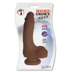 "7"" Home Grown Cock - Chocolate"