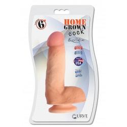 "6"" Home Grown Cock - Vanilla"