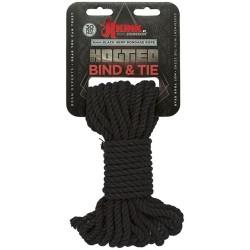 Hogtied - Bind & Tie - 6mm Hemp Bondage Rope - 30 Feet - Black