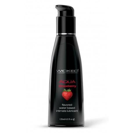 Aqua Strawberry Water-Based Lubricant 4 Oz