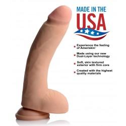 Usa Cocks 10 Inch Ultra Real Dual Layer Dildo - Flesh
