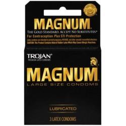 Trojan Magnum Large Size Condoms - 3 Pack