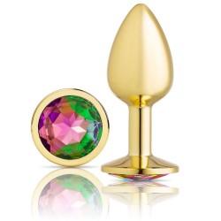 Cloud 9 Novelties Anal Gems Jeweled Gold Chromed Anal Plug - Small