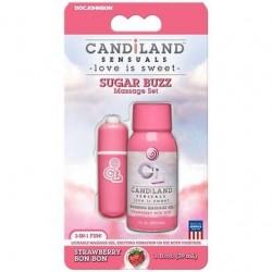 Candiland Sensuals - Sugar Buzz Massage Set - Strawberry Bon Bon