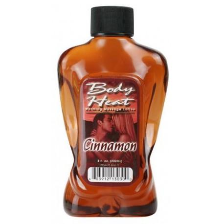 Body Heat Warming Massage Lotion Cinnamon - 8 oz.