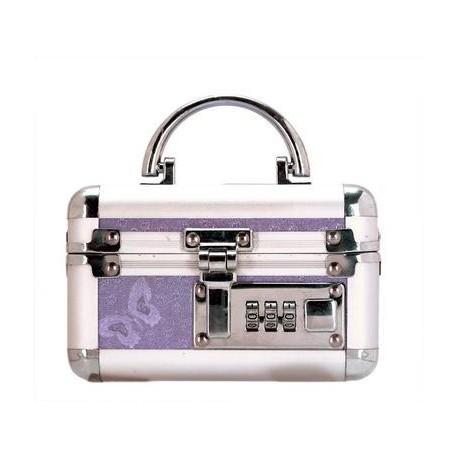 Mini Lockable Vibrator Case - Purple