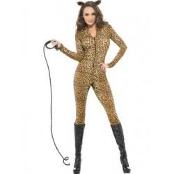 Fever Leopard Print Whiplash Costume - Extra Small