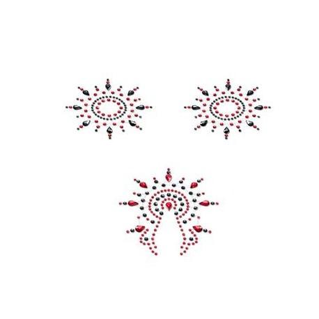 Petits Joujoux Gloria - Black- Red - Set of 3