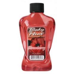 Body Heat Warming Massage Lotion Strawberry - 8 oz.