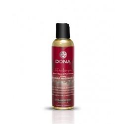 Dona Kissable Massage Oil - Strawberry Souffle - 4 oz.
