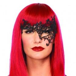 Daring Venetian Applique Eye Mask - Black